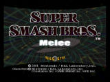 Super Smash Bros.: Melee GameCube title screen