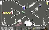 Badlands Commodore 64 And the helicopter drops a replacement car onto the track