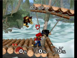 Super Smash Bros.: Melee GameCube donkey kong battle