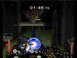 Super Smash Bros.: Melee GameCube samus preparing to fire