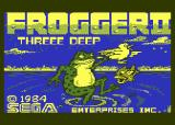 Frogger II: ThreeeDeep! Atari 8-bit Title screen (Disk version)
