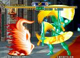 Savage Reign Neo Geo A minor clash involving Gozu's Mudoh Goenha and King Lion's Silent Storm: which attack will prevail?