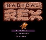 Radical Rex SNES Main menu