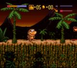 Radical Rex SNES Starting location for level 1
