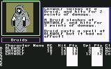 The Bard's Tale II: The Destiny Knight Commodore 64 A fight in progress