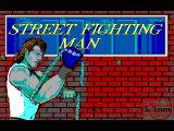 Street Fighting Man DOS Title Screen