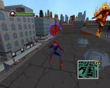 Ultimate Spider-Man Windows About to race against the Human Torch