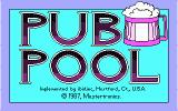 Pub Pool DOS Title Screen