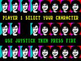 Alien Syndrome ZX Spectrum Select your character