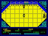 Alien Syndrome ZX Spectrum Starting location. There is someone to be rescued and an alien.