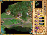 Heroes of Might and Magic IV Windows The real deal: the world map screen which is also the screen where you will be the most time.