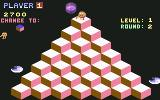 Q*bert Commodore 64 Starting round 2