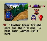 Thomas the Tank Engine & Friends SNES I hope poor James isn't hurt.
