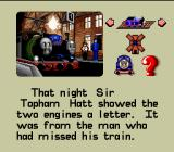 Thomas the Tank Engine & Friends SNES Percy and Thomas pull the mail on time.