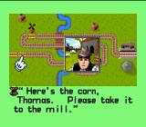 Thomas the Tank Engine & Friends SNES Thomas is about to take the corn to the mill to make the cornbread for muffins.