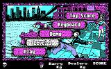 Operation: Cleanstreets DOS Options menu, note you can choose difficulty level
