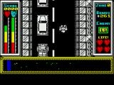 Stainless Steel ZX Spectrum Parked cars block part of the road