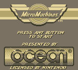 Micro Machines Game Boy Title Screen