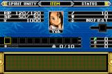 Shaman King: Master of Spirits Game Boy Advance Inventory Screen