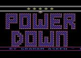 Power Down Atari 8-bit Title screen