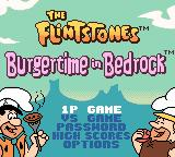 The Flintstones: Burgertime in Bedrock Game Boy Color Main menu