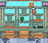 The Flintstones: Burgertime in Bedrock Game Boy Color A bonus club to get