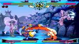 Darkstalkers Chronicle: The Chaos Tower PSP Rikuo taking a kick at Hsien-ko