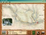 Oregon Trail II Windows Traveling map