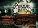 Mortimer Beckett and the Secrets of the Spooky Manor Windows Main menu with credits