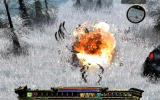 Loki: Heroes of Mythology Windows Engulfed in flames by a trap.