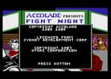 Fight Night Atari 8-bit Copyright screen (cartridge version)