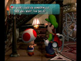 Luigi's Mansion GameCube Toad saves your game.