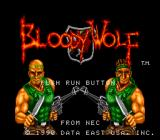 Bloody Wolf TurboGrafx-16 Title