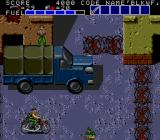Bloody Wolf TurboGrafx-16 Riding a motorcycle