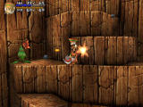Threads of Fate PlayStation Fighting things in a canyon