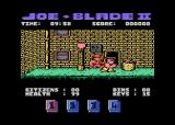 Joe Blade II Atari 8-bit Game start, making the first attack