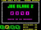 Joe Blade II ZX Spectrum Swapping the numbers around for subgame 2