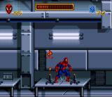 Spider-Man SNES Our hero is avoiding deadly flames..