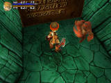 Threads of Fate PlayStation Hacking things in the dungeon