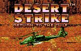 Desert Strike: Return to the Gulf Lynx Title and opening animation with credits