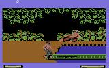 Fist: The Legend Continues Commodore 64 Attacking with a flying kick