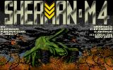 Sherman M4 Amiga Title screen