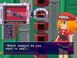 Mega Man Legends Windows Selecting secondary weapons.