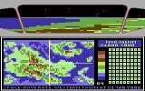 Sentinel Worlds I: Future Magic Commodore 64 Orbiting a planet - select a landing site