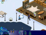 The Sims: Vacation Windows In the process of building a snowman.