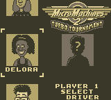 Micro Machines 2: Turbo Tournament Game Boy Player 1 Select Driver