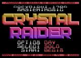 Crystal Raider Atari 8-bit Title screen