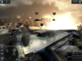 World in Conflict Windows The helicopters barely escape the explosion.
