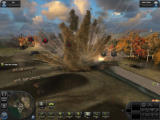 World in Conflict Windows Heavy explosion, affecting the terrain permanently.