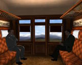 Sherlock Holmes: The Awakened Windows Our two heroes in a train
